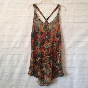 Becca multicolored snakeskin print swimsuit cover